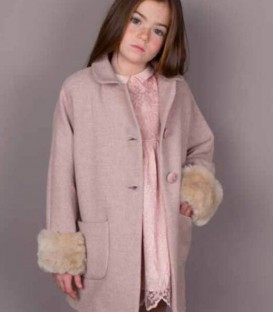 Abrigo vintage rosa